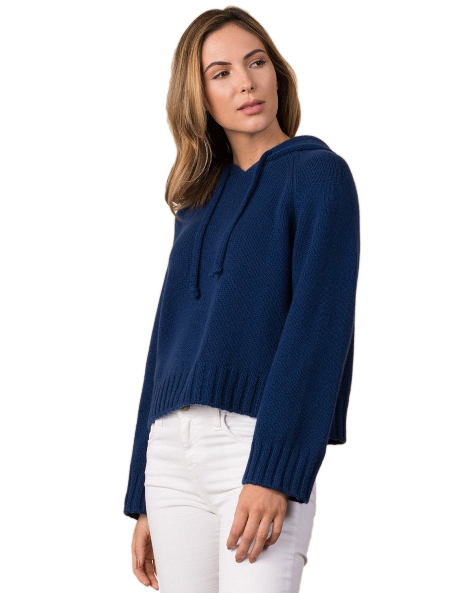 Margaret O'Leary Clothing Marine / XS Cropped Hoodie