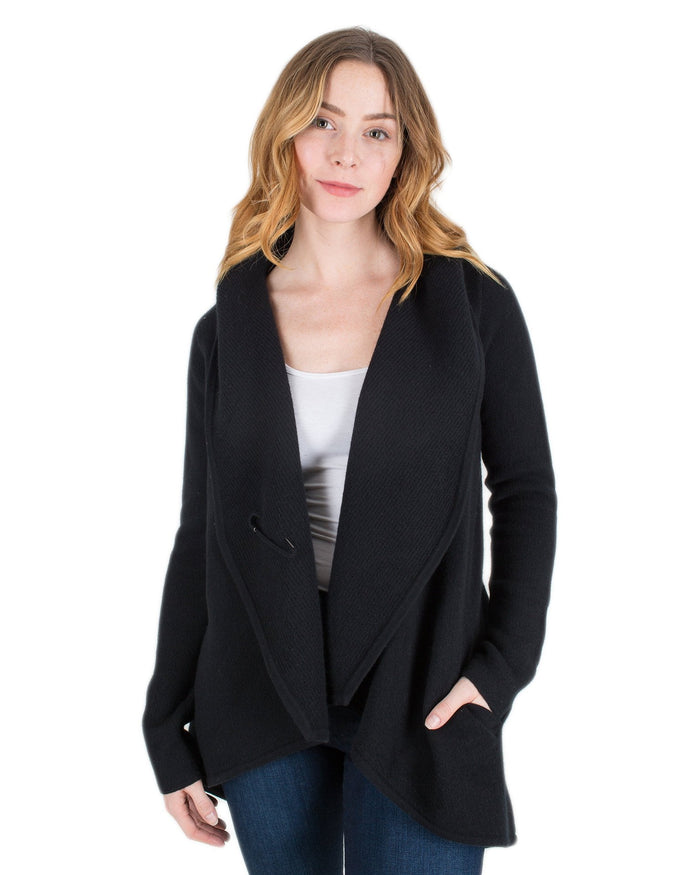 Margaret O'Leary Clothing Black / XS St Helena Open Cardi