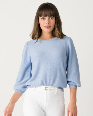 Margaret O'Leary Clothing Misty Blue / XS Tori Pullover in Misty Blue