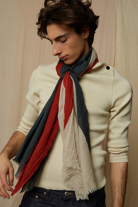 Mois Mont Accessories Long Scarf in Rust