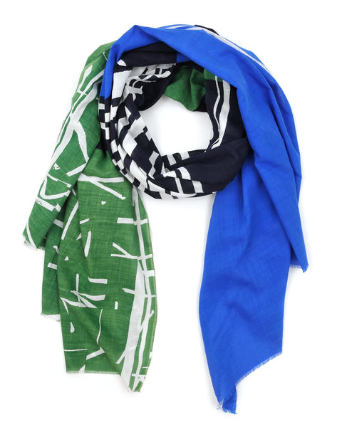 Mois Mont Accessories Evergreen / O/S O + Geo Rctngl Scarf