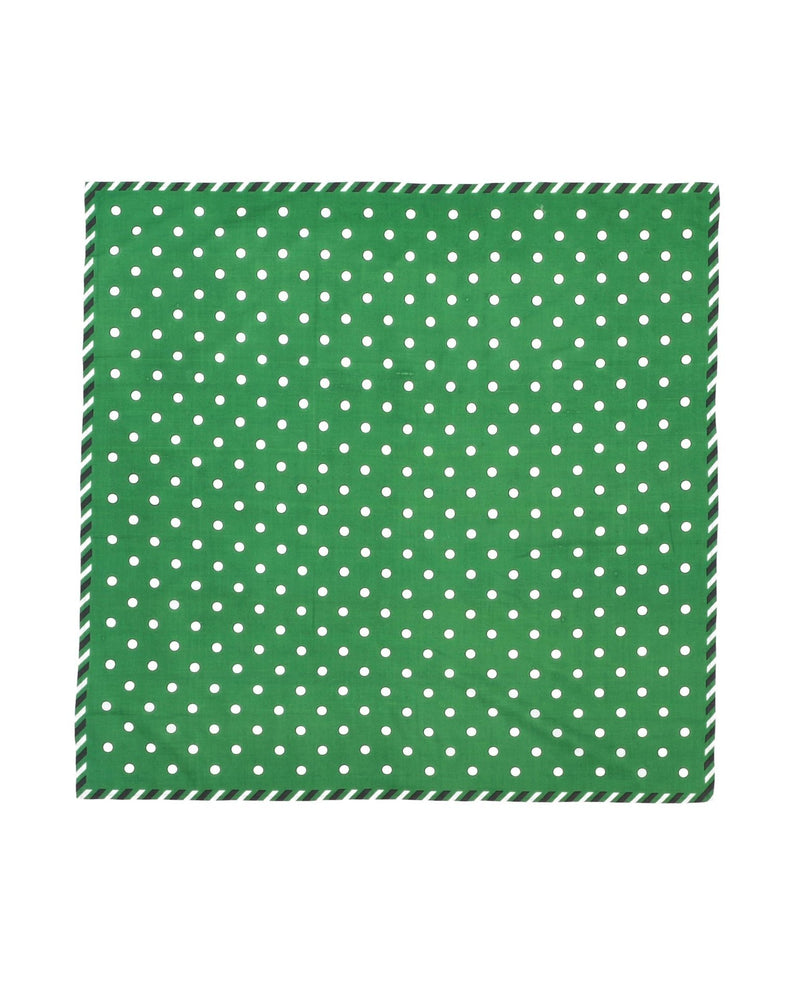 Mois Mont Accessories Evergreen / O/S Polka Dot Sqr Scarf
