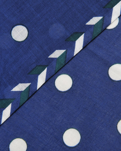 Mois Mont Accessories Japan Blue / O/S Polka Dot Sqr Scarf