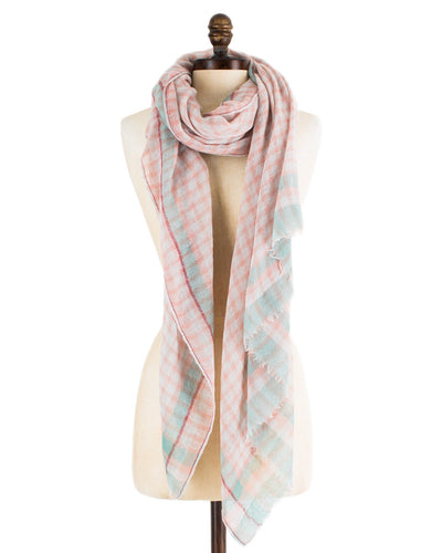 Mois Mont Accessories Pastel / O/S Rectangle Small Check Scarf