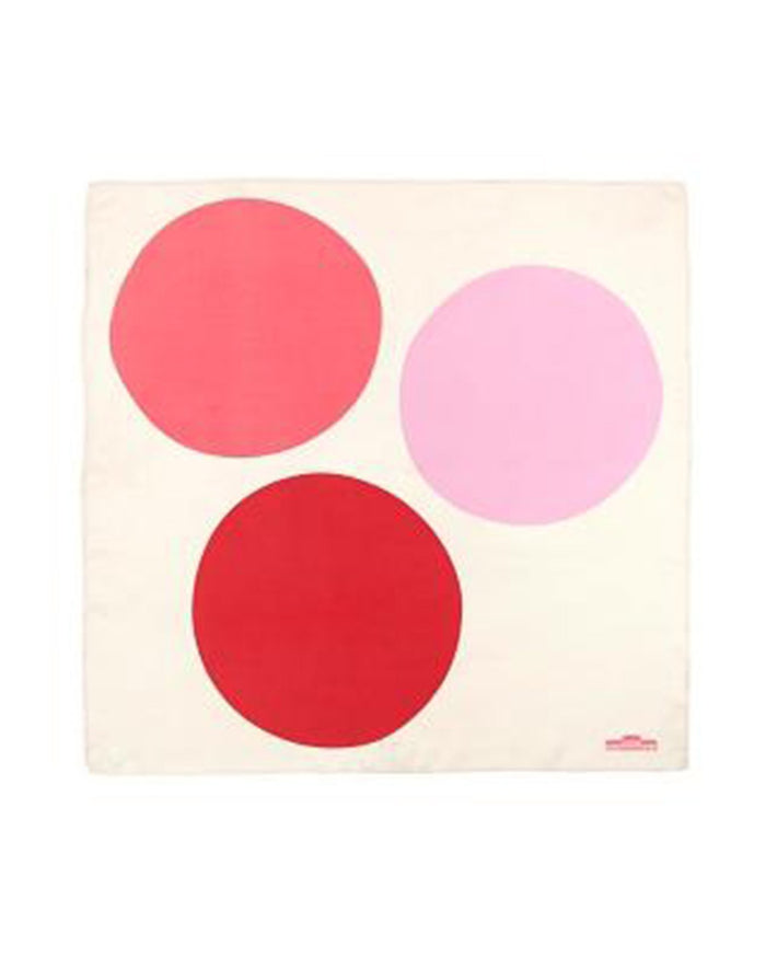 Mois Mont Accessories France Rose Silk Square Circles Scarf