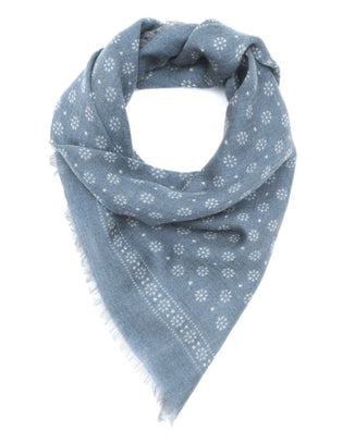 Mois Mont Accessories Small Wool Bandana in Grey