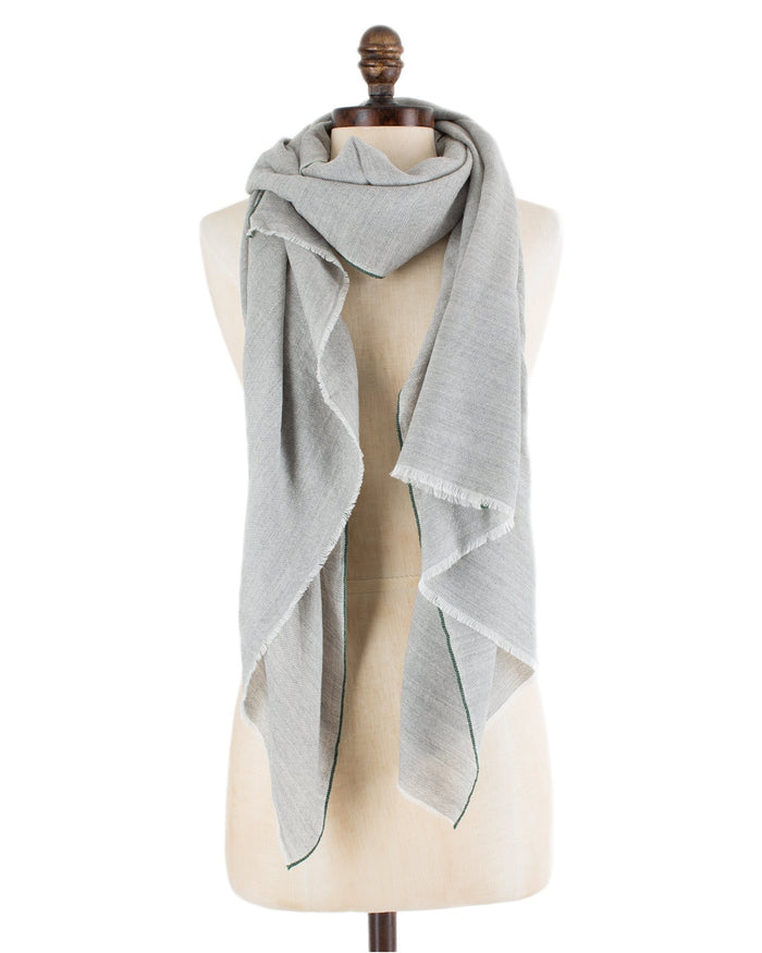 Mois Mont Accessories Dover Grey / O/S Wool/Silk Solid Scarf