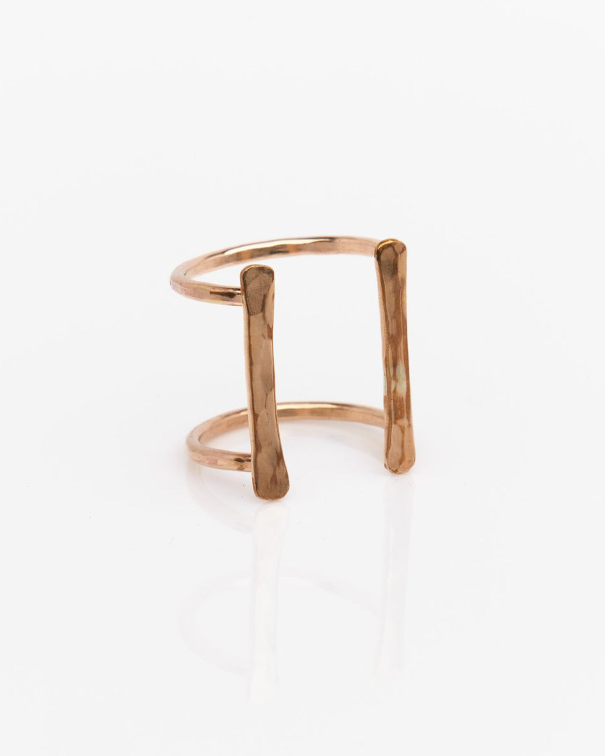 Nashelle Jewelry Double Bar Ring in Gold