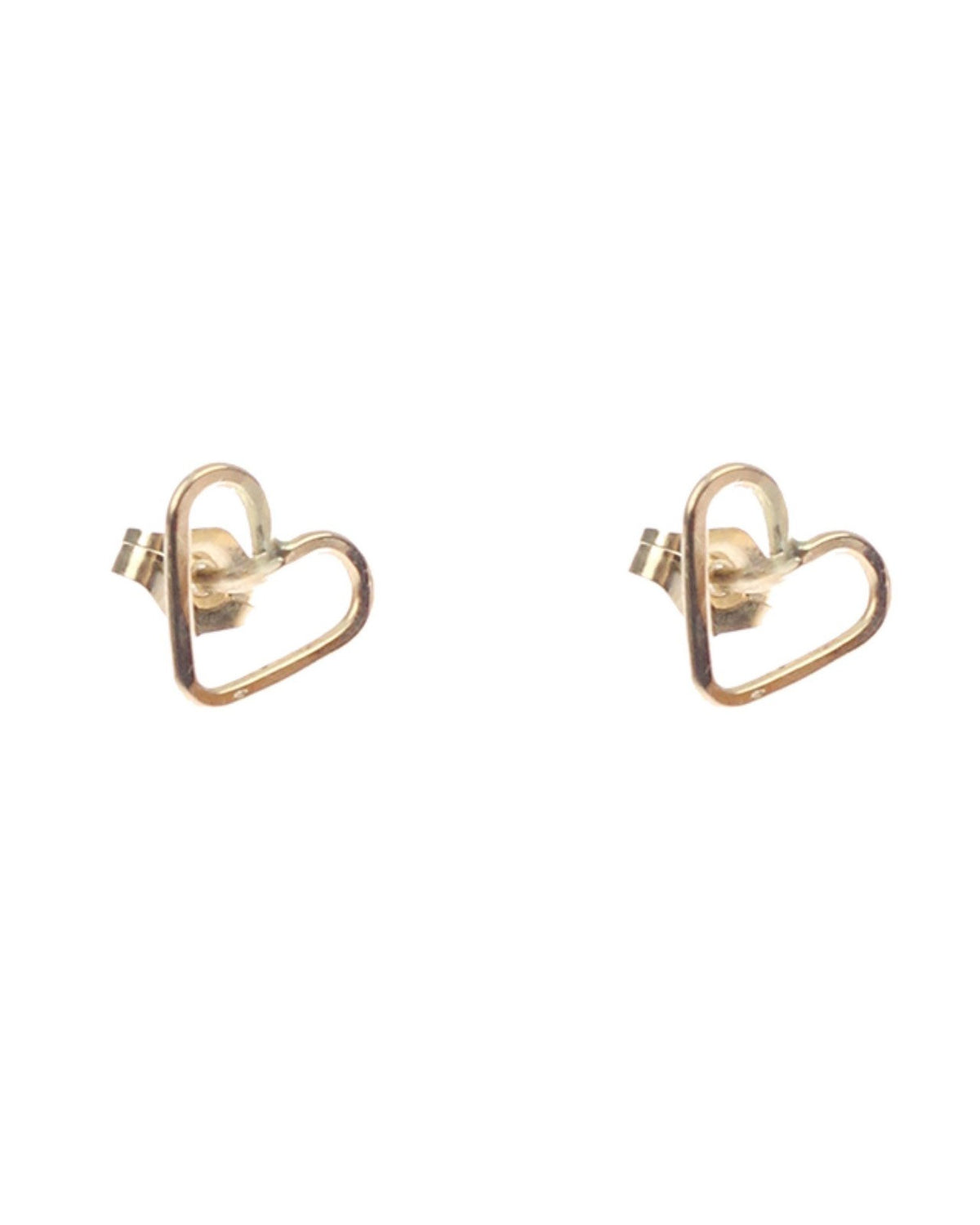 Nashelle Jewelry Gold / O/S Lucky Mini Heart Posts in Gold