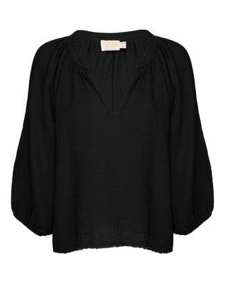 Nation LTD Clothing Mimi Romance Top in Black
