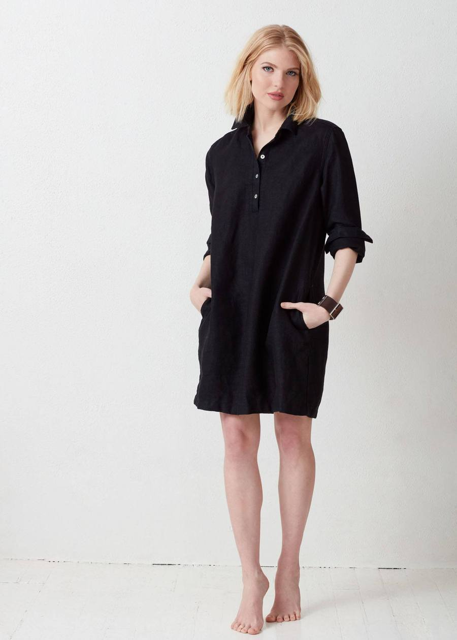 Not Monday Clothing Amelie Shirtdress in Black