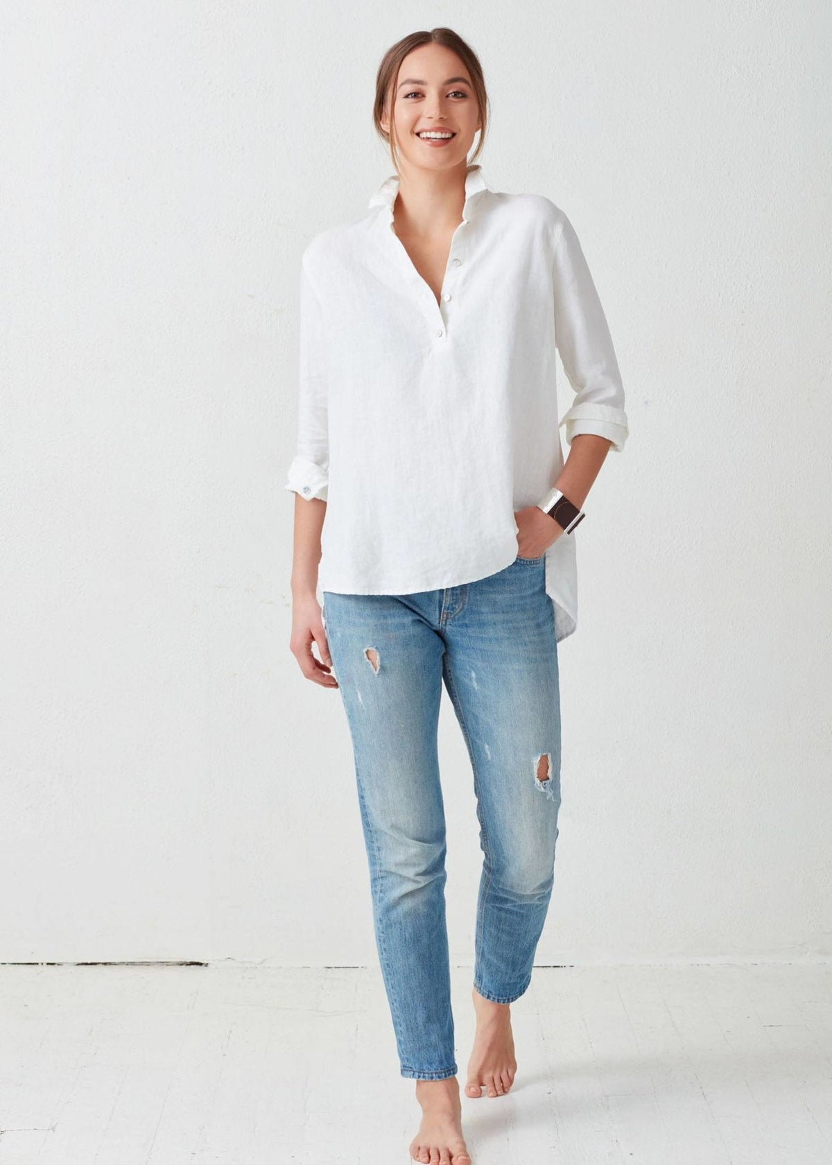 Not Monday Clothing Maddie Tunic in White
