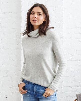 Not Monday Clothing Olivia Turtleneck Sweater in Cloud