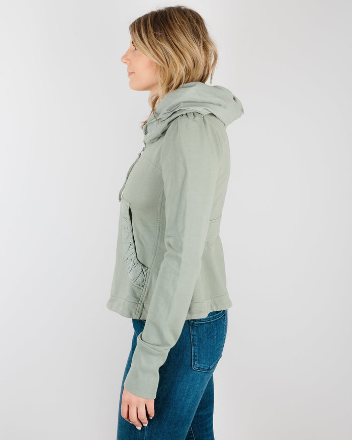 Prairie Underground Clothing Cloak Hoodie in French Clay