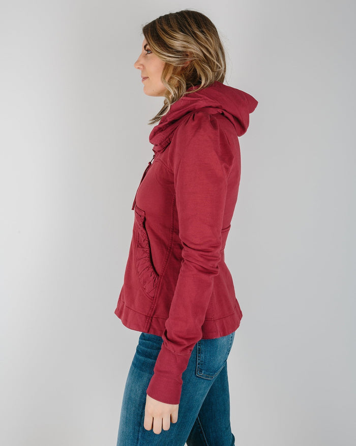 Prairie Underground Clothing Cloak Hoodie in Pomegranate