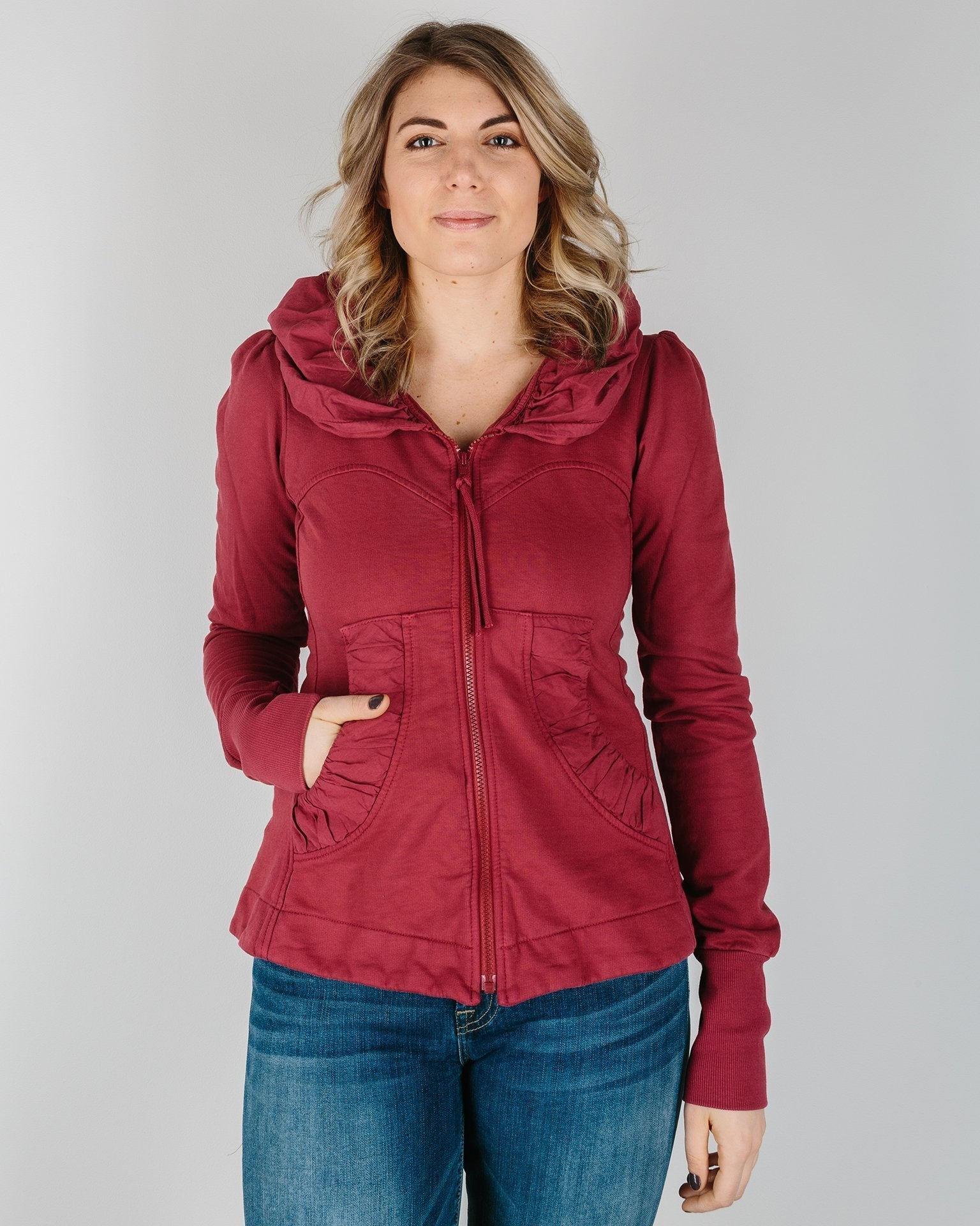 Prairie Underground Clothing Pomegranate / XS Cloak Hoodie in Pomegranate