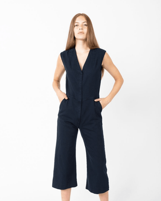 Prairie Underground Clothing Mood Indigo / XS Fine Again Jumpsuit in Mood Indigo