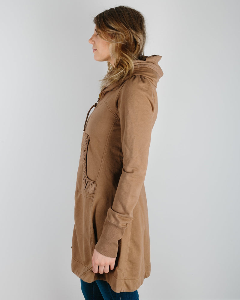 Prairie Underground Clothing Long Cloak Hoodie in Carpenter