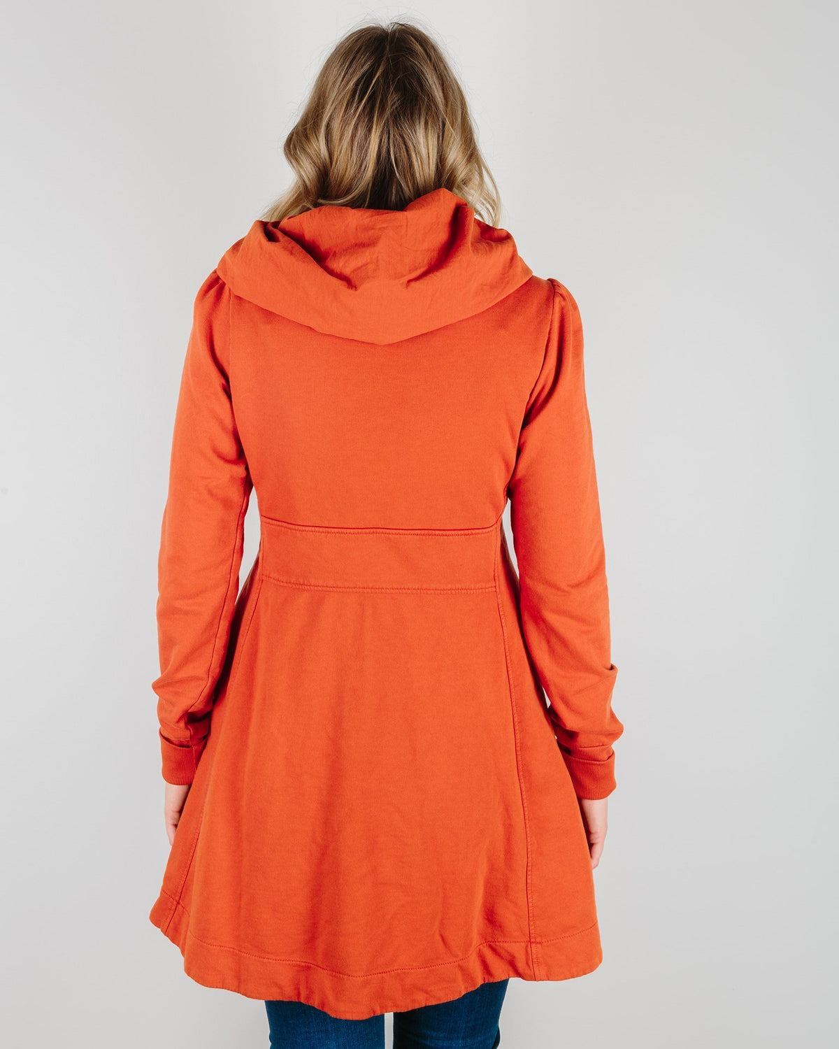 Prairie Underground Clothing Long Cloak Hoodie in Hot Sauce