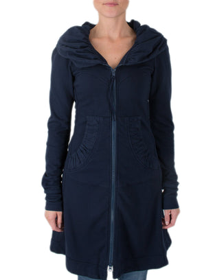 Prairie Underground Clothing Midnight / XS Long Cloak Hoodie in Midnight