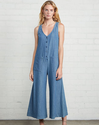 Rachel Pally Clothing Stonewash Chambray / XS Cody Jumpsuit in Stonewash Chambray