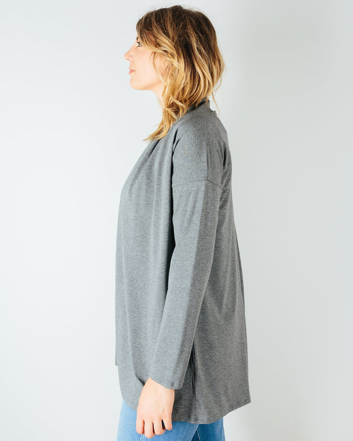 Sarah Liller San Francisco Clothing Bella Cardigan in Granite