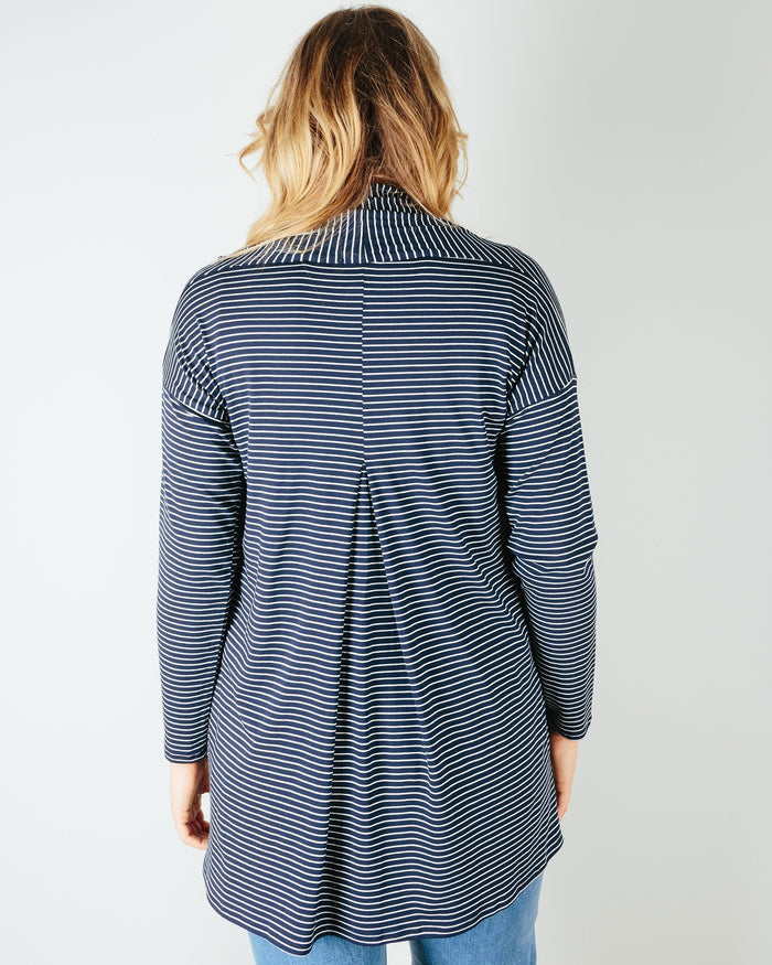 Sarah Liller San Francisco Clothing Bella Cardigan in Navy Stripe