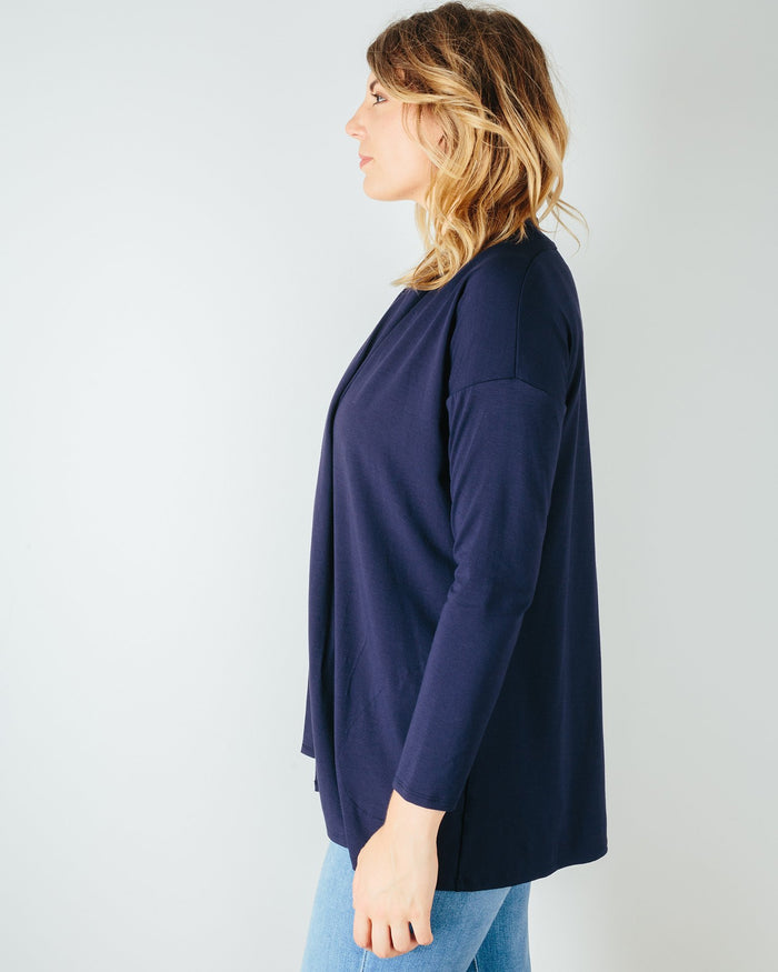 Sarah Liller San Francisco Clothing Bella Cardigan in True Navy