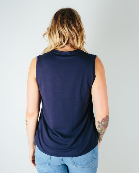 Sarah Liller San Francisco Clothing Chloe Tee in True Navy
