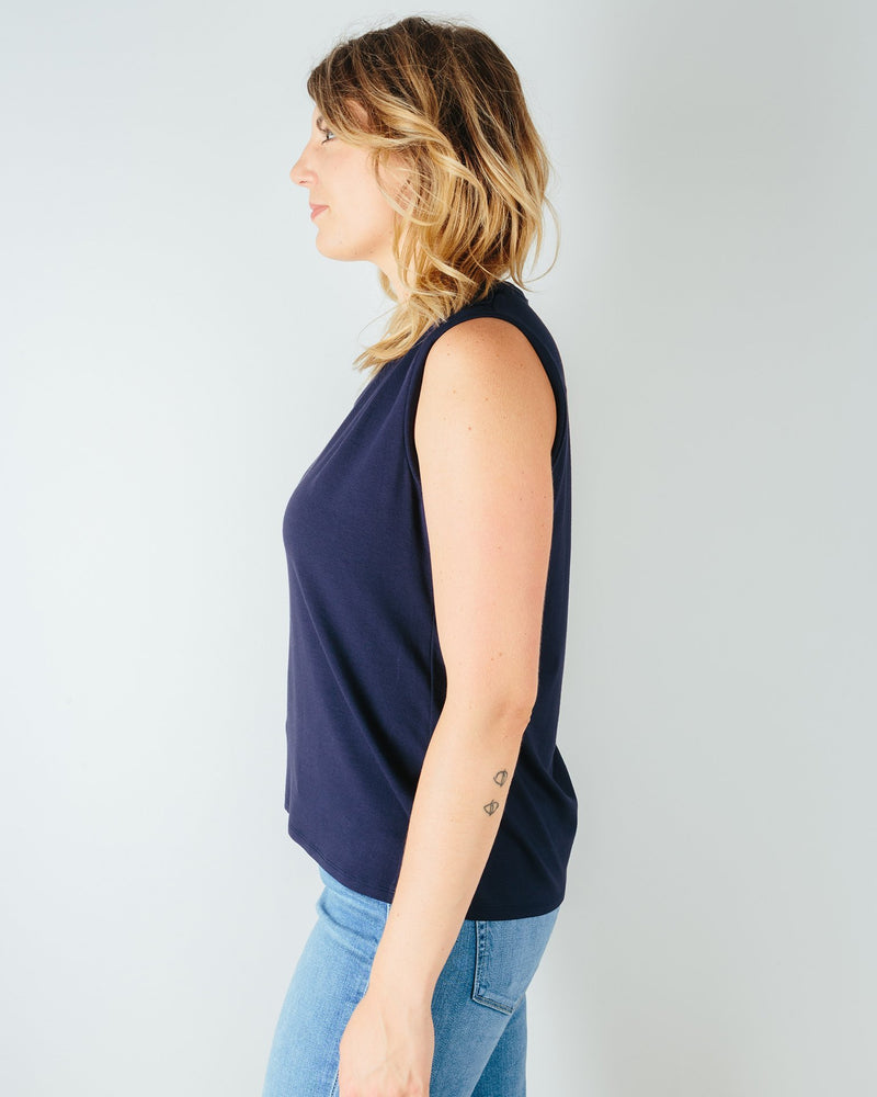 Chloe Tee in True Navy