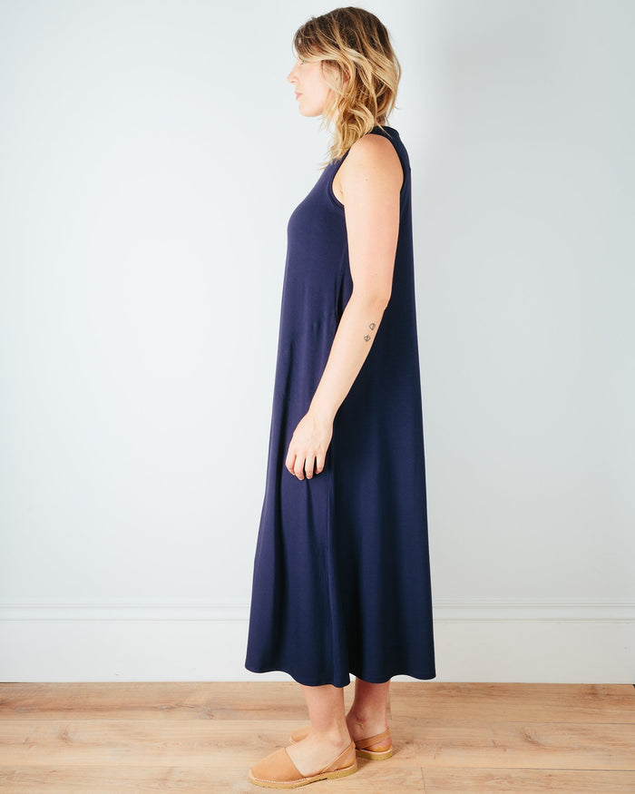 Sarah Liller San Francisco Clothing Josephine Dress in True Navy