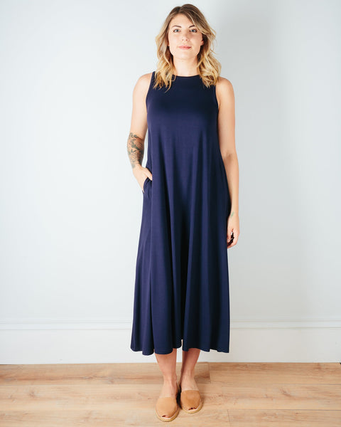 Sarah Liller San Francisco Clothing True Navy / XS Josephine Dress in True Navy