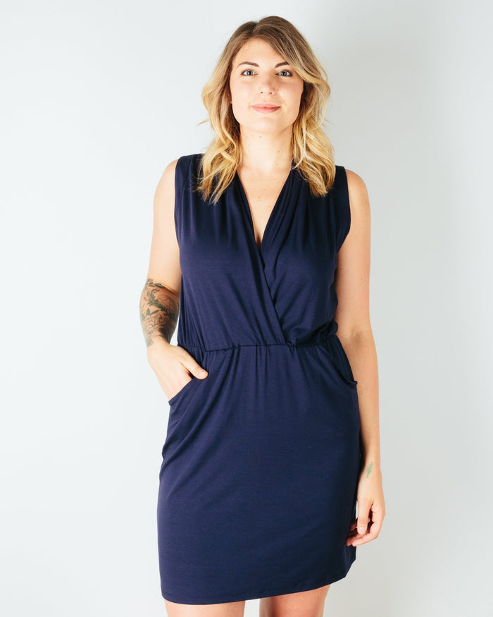 Sarah Liller San Francisco Clothing True Navy / XS Lorie Dress in True Navy
