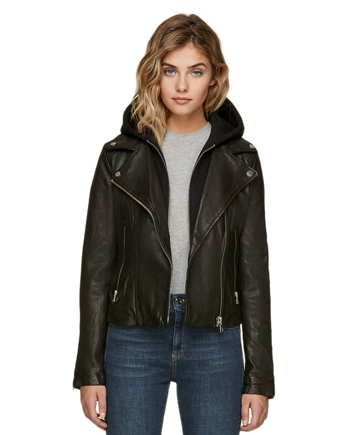 Soia and Kyo (APP Group) Outerwear Black / S Allison Leather Jacket