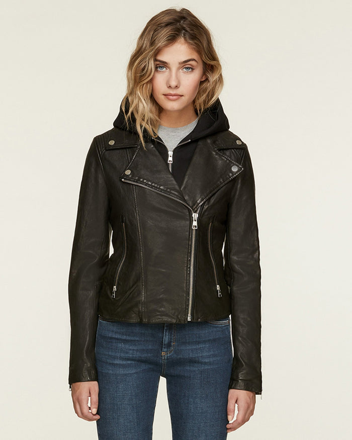 Soia and Kyo (APP Group) Outerwear Black / XS Allison Leather Jacket