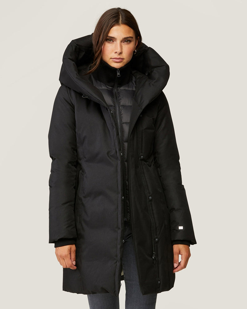 Soia & Kyo Clothing Camelia Brushed Down Coat in Black