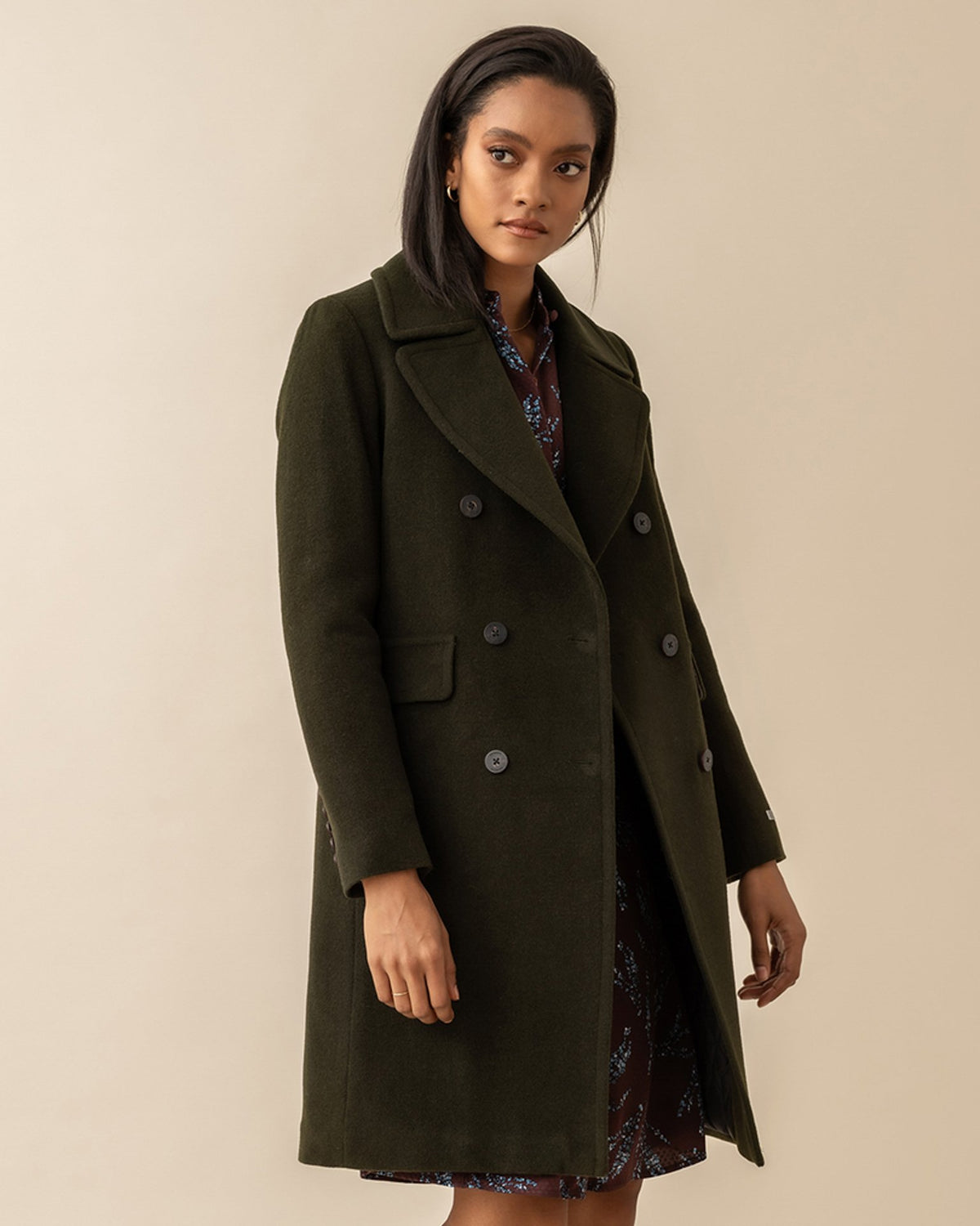 Soia & Kyo Outerwear Evette Wool Coat in Army