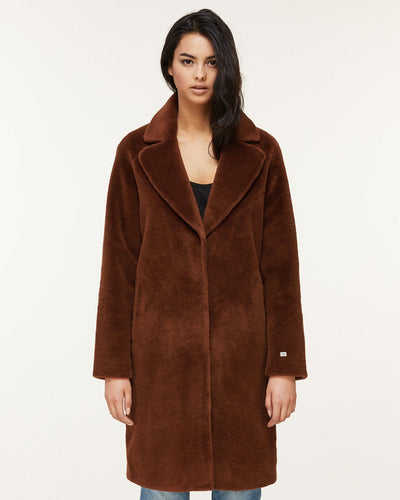 Soia & Kyo Outerwear Rubina Embossed Wool Coat in Autumn