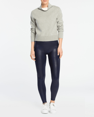 Spanx Clothing Faux Leather Leggings in Navy