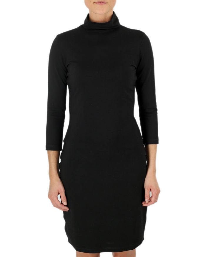 Susana Monaco Clothing Black / XS Cat Turtleneck Dress