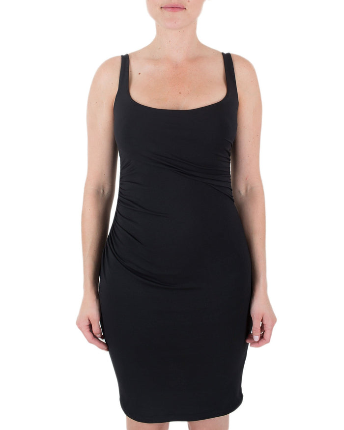 Susana Monaco Clothing Black / XS Gather Tank Dress