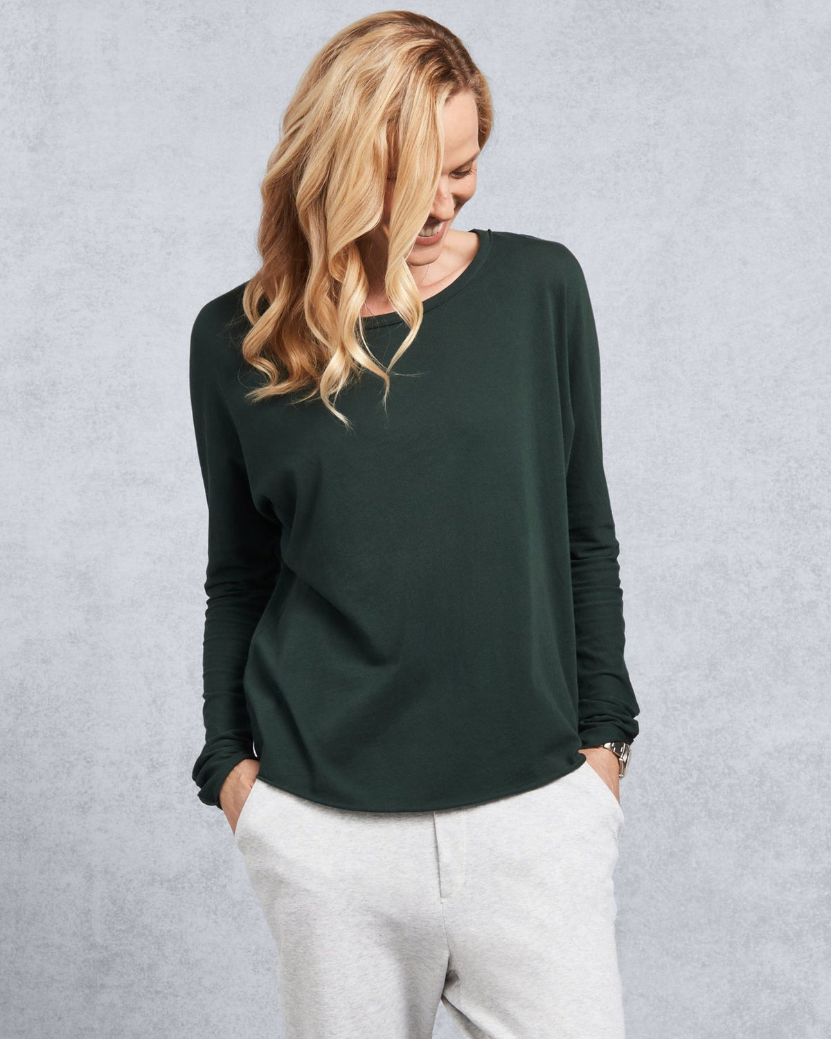 Tee Lab Clothing Continuous Sleeve Tee in British Racing Green