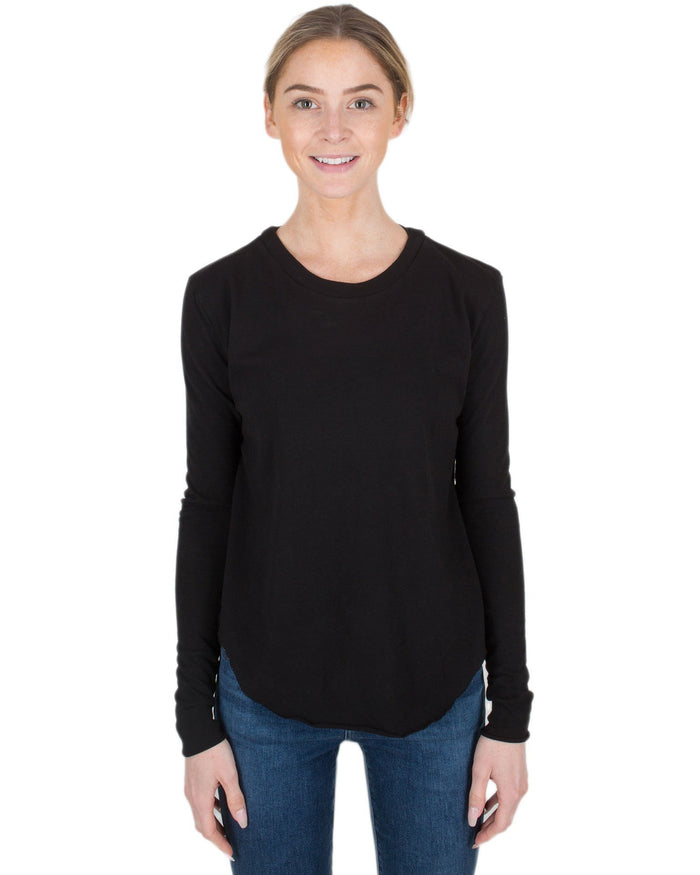 Tee Lab Clothing Blackout / L Crew Neck Long Sleeve Tee