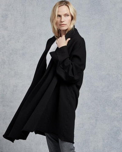 Tee Lab Clothing Drape Coat in Black