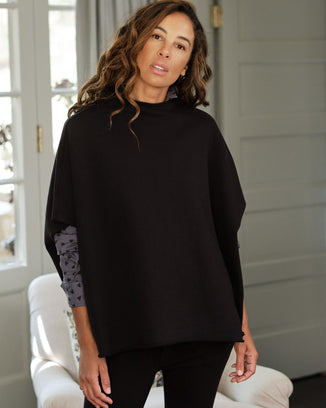 Tee Lab Clothing Black / O/S Funnel Neck Capelet in Black