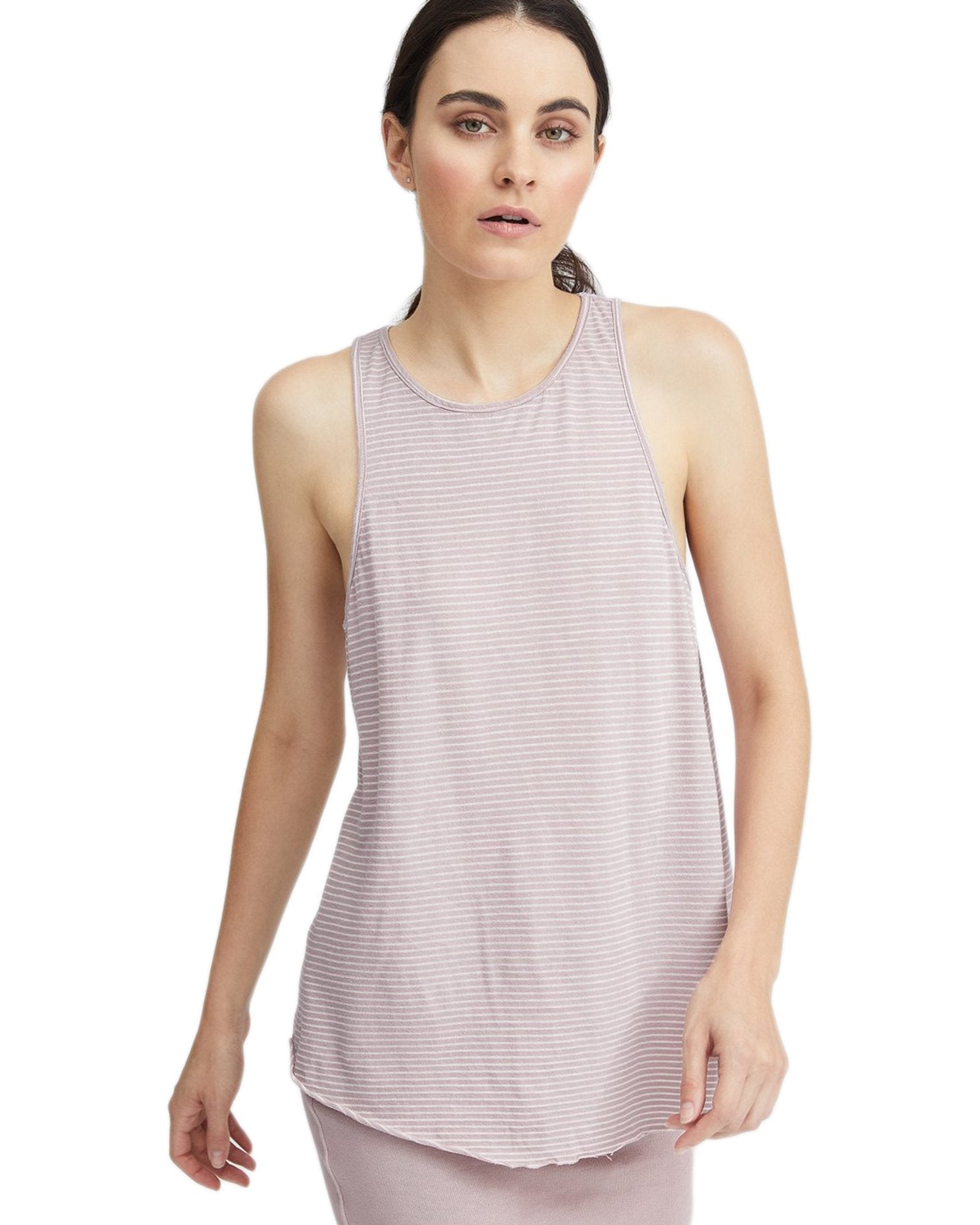 Tee Lab Clothing Dirty Ballerina Stripe / XS High Neck Tank in Dirty Ballerina Stripe