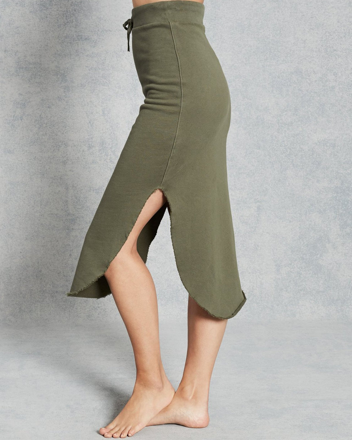Tee Lab Clothing Long Fleece Skirt in British Army