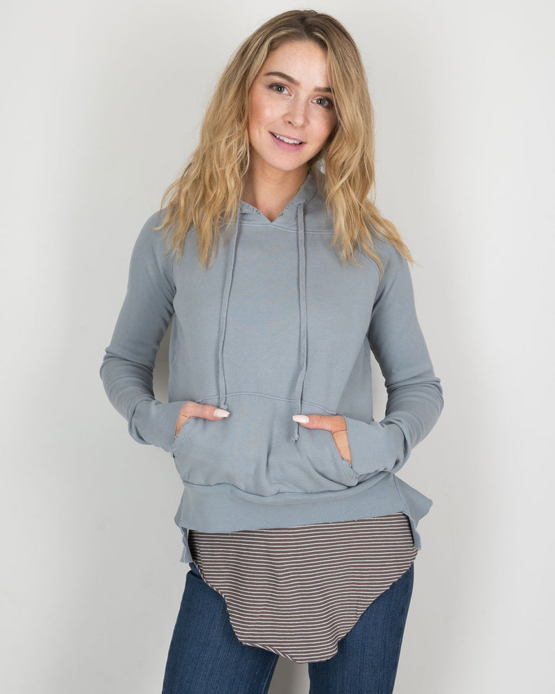 Tee Lab Clothing Pull Over Hoodie in Vamp