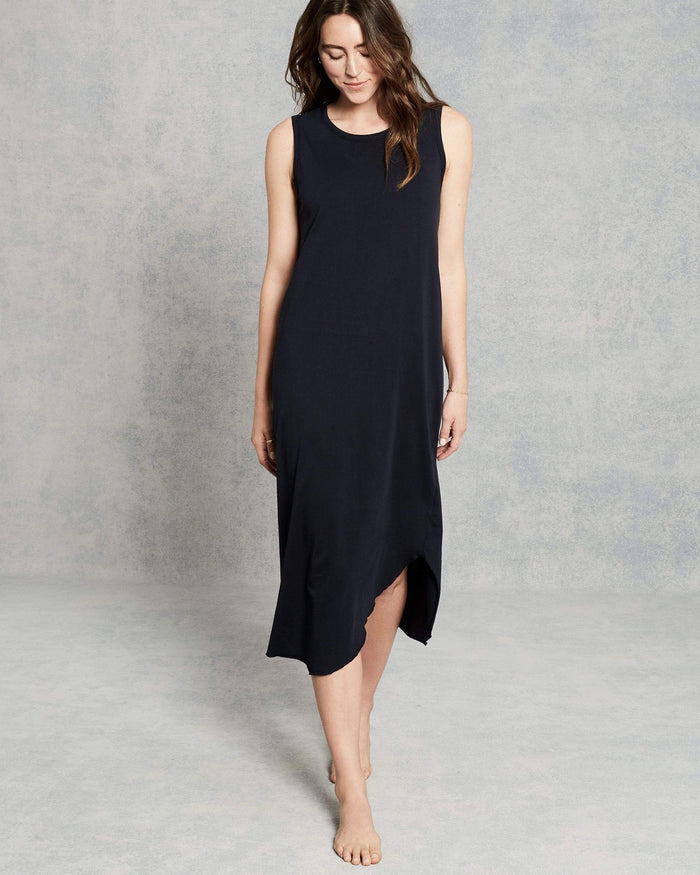 Tee Lab Clothing Relaxed Asymmetric Tank Dress