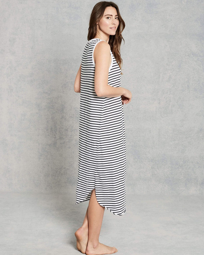 Tee Lab Clothing British Royal Navy Stripe / XS Relaxed Asymmetric Tank Dress